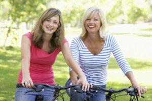 biking with mom